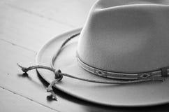 Ковбойская шляпа черно-белая Стоковые Изображения