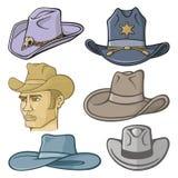 Ковбойские шляпы Стоковые Изображения