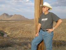 Ковбой в пустыне Стоковая Фотография