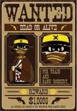 Ковбой Диких Западов хотел плакат Стоковое Изображение RF