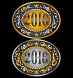 Ковбой дизайн пряжки пояса 2016 год овальный Стоковая Фотография
