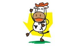 Ковбой коровы Стоковые Изображения