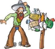 ковбой получая почту Бесплатная Иллюстрация
