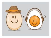 Ковбой фермы яичка еды Стоковые Фото