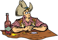 ковбой штанги Бесплатная Иллюстрация