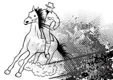 ковбой иллюстрация штока