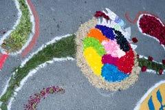 Ковер лепестка и цветка для торжества christi domini сборника Стоковые Изображения