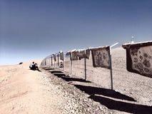 Ковры на загородке Стоковая Фотография