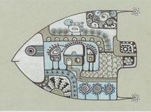 ковчег рыб иллюстрация вектора