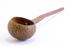 Ковш сделанный от раковины кокоса Стоковое фото RF