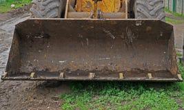 Ковш экскаватора на строительной площадке Стоковое Изображение