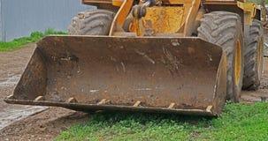 Ковш экскаватора на строительной площадке Стоковые Фото