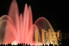 Когда вода фонтана будет шелком стоковое изображение rf