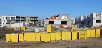 Когда строя новые дома, газированный бетон и блоки шлака th Стоковые Фото