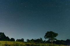 Когда я смотрю к небу ` s ночи Стоковые Изображения RF