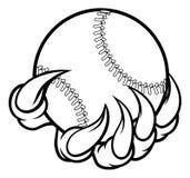 Коготь изверга держа шарик бейсбола иллюстрация штока