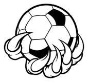 Коготь изверга животный держа шарик футбола футбола бесплатная иллюстрация