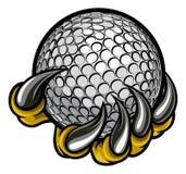 Коготь изверга или животного держа шар для игры в гольф бесплатная иллюстрация