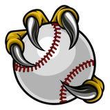 Коготь чудовища птицы орла держа шарик бейсбола иллюстрация штока