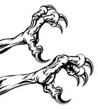 Когти орла Стоковое Изображение RF