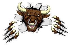 Когти Bull ломают вне бесплатная иллюстрация