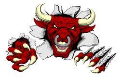 Когти Bull ломают вне иллюстрация вектора