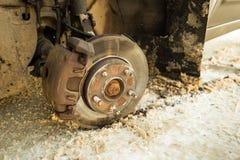 Когда колесо потеряно стоковая фотография