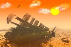 Когда море исчезает стоковое фото rf