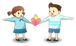 Когда любовник на различном путе иллюстрация штока