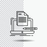Кодер, кодирвоание, компьютер, список, линия значок бумаги на прозрачной предпосылке r бесплатная иллюстрация