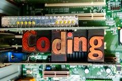Кодирвоание и превращаться сети Учить закодировать и начать программное обеспечение стоковое фото rf