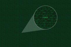 кодировать увеличиванный вирус Стоковое Изображение RF