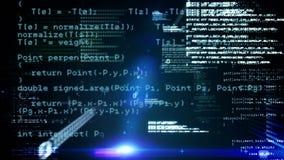 Коды и галактика программы иллюстрация штока