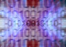 Коды предпосылки бинарные Стоковые Фотографии RF