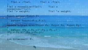 Коды программы и пляж сток-видео