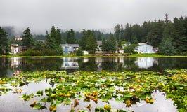 Кодьяк, озеро Lilly, основание гидросамолета, Кодьяк Стоковые Изображения RF