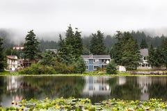 Кодьяк, озеро Lilly, основание гидросамолета, Кодьяк Стоковое Фото