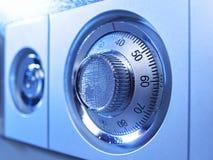Код механически замка безопасности на защитной коробке  Стоковое фото RF