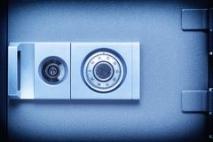 Код механически замка безопасности на защитной коробке  Стоковые Фотографии RF