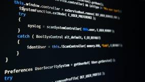 Код разработчика программного обеспечения программируя стоковое изображение