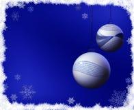 Код рождества шариков бинарный Стоковое Изображение