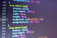 Код стиля CSS Исходный код компьютерного программирования Абстрактный экран веб-разработчик Предпосылка цифровой технологии совре Стоковая Фотография