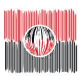 код штриховой маркировки увеличивал Стоковое Изображение