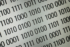 Код binary близкий вверх Стоковое Изображение RF