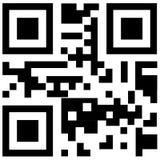 Код Qr для франтовского телефона Стоковое фото RF