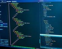 Код stylesheet CSS Разделять HTML и css в редакторе Сеть или разработка приложений Дизайн сайта стоковое изображение