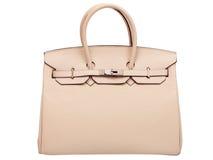 Кожаная женская сумка. Стоковые Фото