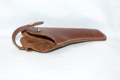 Кожаная кобура для пистолета Стоковое Фото