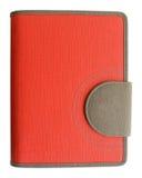 Кожаная красная тетрадь крышки стоковая фотография