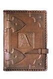 Кожаная крышка дневника Стоковое Изображение